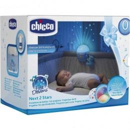 CHICCO 62355 Projektor na Łóżeczko z misiem - niebieski