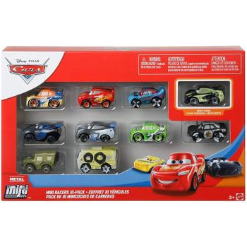 Cars Auta – Mini Racers - Zestaw 10 samochodów – GKG68