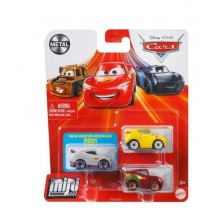 Auta Cars Mini Racers – Zestaw trzech autek – Metal – GYD33