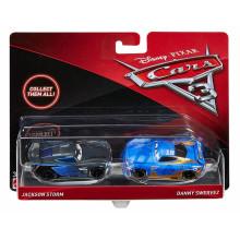 Auta 3 Cars- Dwupak samochodzików - Jackson Storm i Danny Swervez FGF03