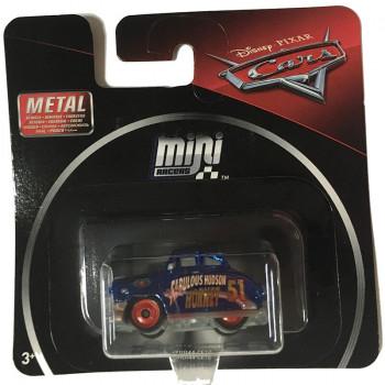 Auta Cars - Mini Racers – Metaliczny fantastyczny Hudson Hornet po trasie – FRR44