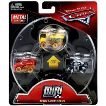 Cars Mini Racers - Zestaw trzech mini autek - Derby Racers GBC70