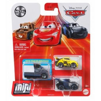 Auta Cars Mini Racers – Zestaw trzech autek – Metal – GRW19