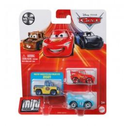 Auta Cars Mini Racers – Zestaw trzech autek– Metal – GRW21
