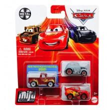 Auta Cars Mini Racers – Zestaw trzech autek – Metal – GYD35