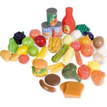 Casdon - Zestaw produktów spożywczych do zabawy 44 elementy - 618