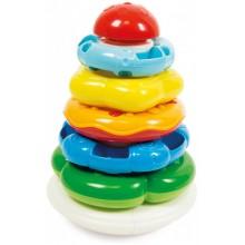 Clementoni Baby - Kolorowa wieża z pierścieni - 17103