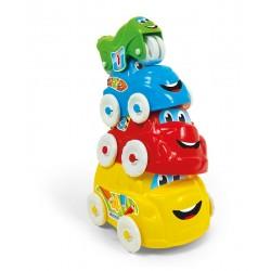 Clementoni Baby 17111 Zabawne pojazdy - wieża z autek