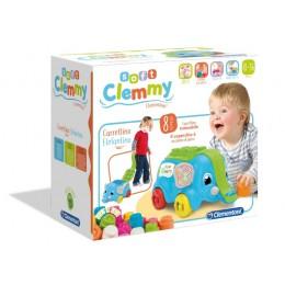 Clementoni Baby – Miękkie klocki Clemmy – Słonik do ciągnięcia – 17162