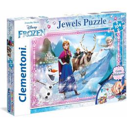 Clementoni - SuperColor - Puzzle Frozen 104el. z ozdobami - 20133