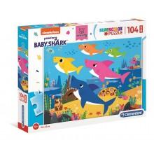 Clementoni – Puzzle Supercolor Maxi 104 elementy – Baby Shark – 23751