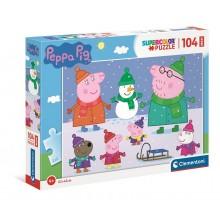 Clementoni – Puzzle Supercolor Maxi 104 elementy – Świnka Peppa – 23752