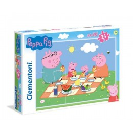 Clementoni – Puzzle Supercolor Maxi 24 elementy – Świnka Peppa – 24028