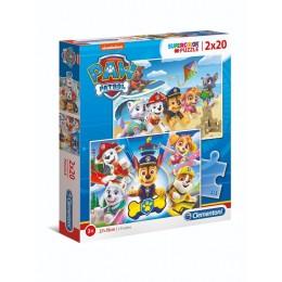 Clementoni – Puzzle Supercolor – Psi Patrol – 2 x 20 elementów – 24776