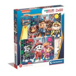 Clementoni – Puzzle Supercolor – Psi Patrol – 2 x 60 elementów – 24787
