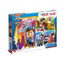 Clementoni – Puzzle Supercolor – Psi Patrol – 3 x 48 elementów – 25271