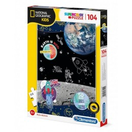 Clementoni – Puzzle Supercolor 104 elementy – National Geographic Kosmos – 27142