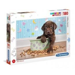 Clementoni – Puzzle Supercolor 180 elementów – Słodki szczeniaczek – 29754