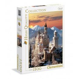 Clementoni – Puzzle 1500 elementów – Zamek Neuschwanstein zimą – 31925