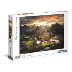 Clementoni – Puzzle 2000 elementów – Widok na Chiny – 32564