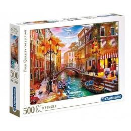 Clementoni – Puzzle 500 elementów – Zachód słońca nad Wenecją – 35063