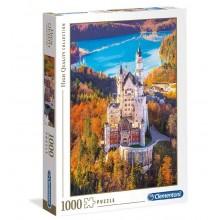Clementoni – Puzzle 1000 elementów – Zamek Neuschwanstein – 39382