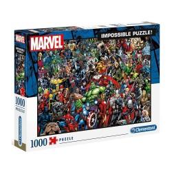 Clementoni – Puzzle Impossible 1000 elementów – Superbohaterowie Marvela – 39411