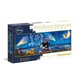 Clementoni – Puzzle panoramiczne 1000 elementów – Disney Myszka Miki i Minnie – 39449