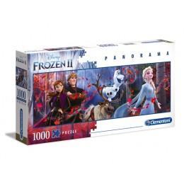 Clementoni – Puzzle panoramiczne 1000 elementów – Kraina Lodu Frozen II - 39544
