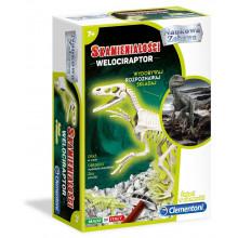 Clementoni - Skamieniałości Welociraptor - Świecący w ciemności 50639