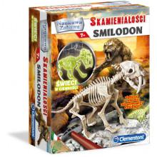 Clementoni - Skamieniałości Smilodon - Świecący w ciemności 60891