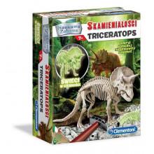 Clementoni - Skamieniałości Triceratops - Świecący w ciemności 60892