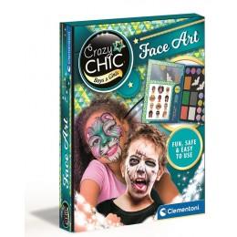 Clementoni 78770 Crazy Chic – Zestaw do malowania twarzy