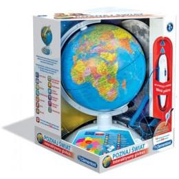 Clementoni 60903 Interaktywny EduGlobus - Poznaj Świat