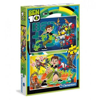 Clementoni - Puzzle Ben 10 2 x 20 el. - 07035