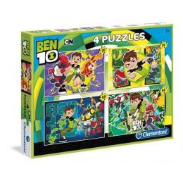 Clementoni - Puzzle Ben 10 4 układanki - 07616