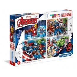 Clementoni – Puzzle progresywne Supercolor 4w1 – Avengers – 07722