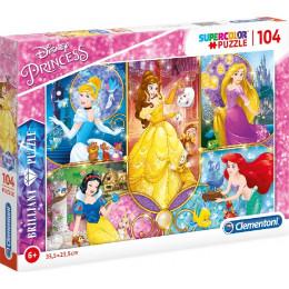 Clementoni - Puzzle Supercolor 104 elementy - Księżniczki Disneya - 20140