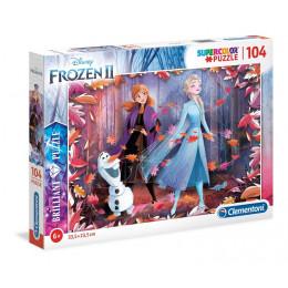 Clementoni - Frozen - Puzzle Brilliant Kraina Lodu II 104 elementy - 20161