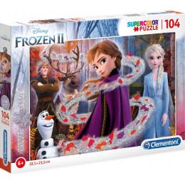 Clementoni - Puzzle Supercolor z brokatem 104 elementy - Frozen II - 20162