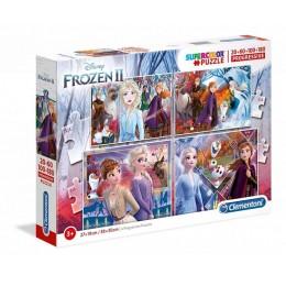 Clementoni – Puzzle progresywne Supercolor 4w1 – Kraina Lodu Frozen – 21411