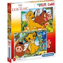 Clementoni - Puzzle Supercolor 2 x 60 elementów - Król Lew - 21604