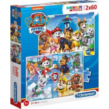Clementoni - Puzzle Supercolor 2 x 60 elementów - Psi Patrol - 21617
