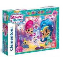 Clementoni - Puzzle SuperColor Maxi - Shimmer i Shine 104 el. - 23705