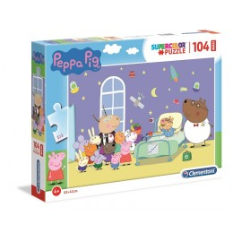 Clementoni – Puzzle Supercolor Maxi 104 elementy  – Świnka Peppa – 23735