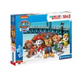 Clementoni – Puzzle Supercolor Maxi 104 elementy – Psi Patrol – 23755