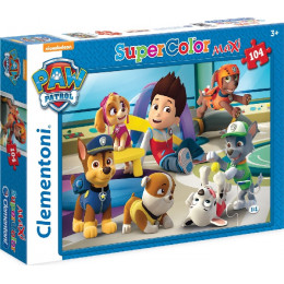 Clementoni - Puzzle Supercolor Maxi 104 elementy - Psi Patrol - 23970