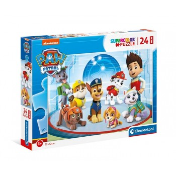 Clementoni – Puzzle Maxi Supercolor 24 elementy  – Psi Patrol – 24211