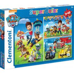 Clementoni - Puzzle Supercolor 3 x 48 elementów - Psi Patrol - 25209