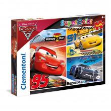 Clementoni - Puzzle SuperColor Cars Auta 3 x 48 el. - 25221